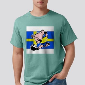 sweden-soccer-pig Mens Comfort Colors Shirt