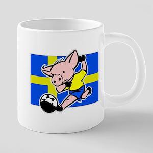 sweden-soccer-pig 20 oz Ceramic Mega Mug