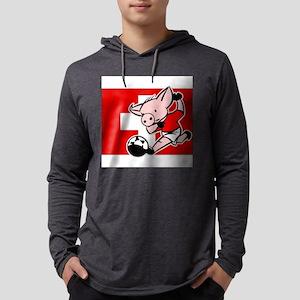 switzerland-soccer-pig Mens Hooded Shirt