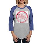 FIN-cute-flying-pig-TRANS Womens Baseball Tee