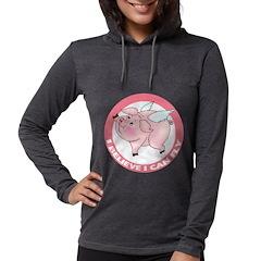 FIN-cute-flying-pig-TRANS Womens Hooded Shirt