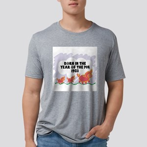 born-year-pig-1983 Mens Tri-blend T-Shirt