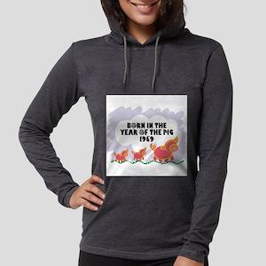 born-year-pig-1959 Womens Hooded Shirt
