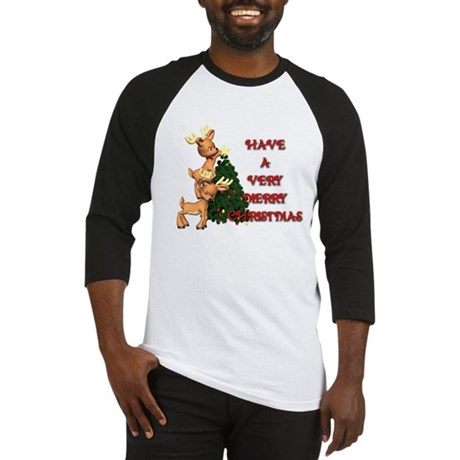 Reindeer Christmas Baseball Jersey