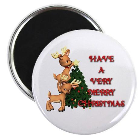 Reindeer Christmas Magnet