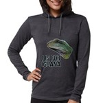 I Is for Iguana Womens Hooded Shirt