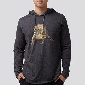 Bearded Dragon Mens Hooded Shirt