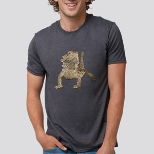 Bearded Dragon Mens Tri-blend T-Shirt