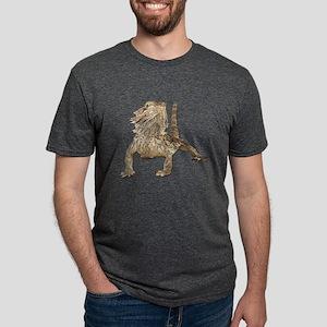 Bearded Dragon Mens Tri-blend T-Shirt