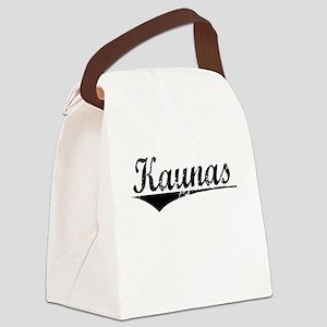 Kaunas, Aged, Canvas Lunch Bag