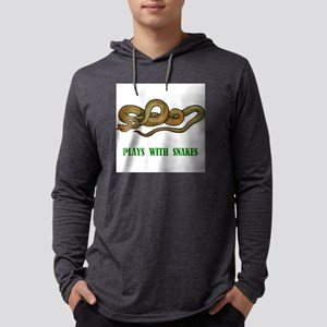 plays-with-snakes.t... Mens Hooded Shirt