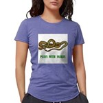 plays-with-snakes.t... Womens Tri-blend T-Shirt