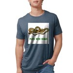 plays-with-snakes.t... Mens Tri-blend T-Shirt