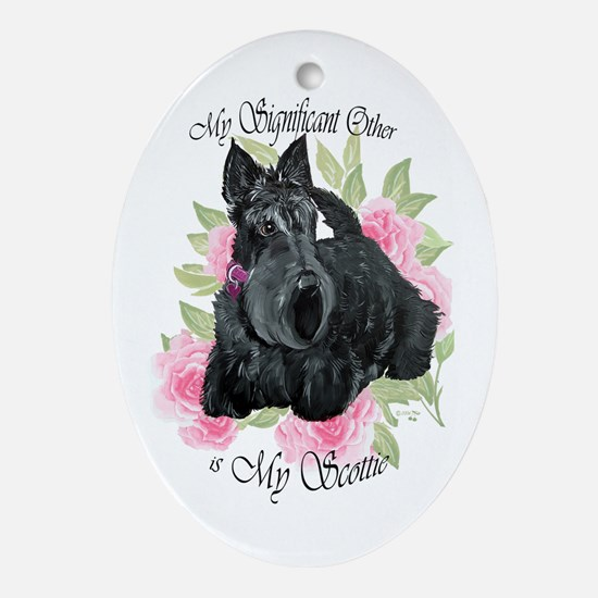 Signicant Scottie Oval Ornament