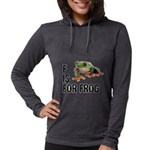 f-is-for-frog-10x10 Womens Hooded Shirt