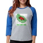 plays-with-frogs.ti... Womens Baseball Tee