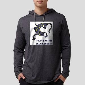 plays-with-salamand... Mens Hooded Shirt