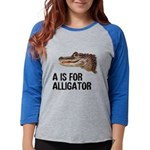 a-is-for-alligator Womens Baseball Tee