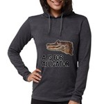 a-is-for-alligator Womens Hooded Shirt