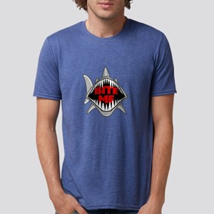 Bite Me Shark Mens Tri-blend T-Shirt