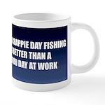 FIN-crappie-day-10x10 20 oz Ceramic Mega Mug