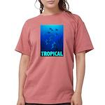 tropical-fish-CROP-text Womens Comfort Colors