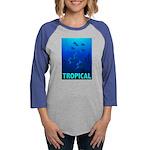 tropical-fish-CROP-text Womens Baseball Tee