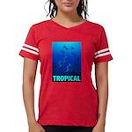 tropical-fish-CROP-text Womens Football Shirt