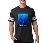 tropical-fish-CROP-text Mens Football Shirt