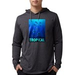 tropical-fish-CROP-text Mens Hooded Shirt