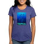 tropical-fish-CROP-text Womens Tri-blend T-Shi