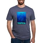 tropical-fish-CROP-text Mens Tri-blend T-Shirt