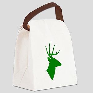 Green Deer Canvas Lunch Bag