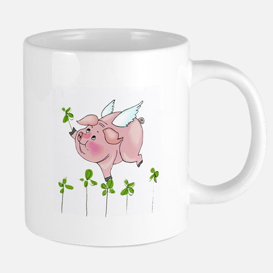 Pig In Clover 20 oz Ceramic Mega Mug