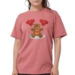 FIN-teddy-bear-hearts Womens Comfort Colors Sh