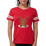FIN-teddy-bear-hearts Womens Football Shirt