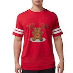 FIN-teddy-bear-hearts Mens Football Shirt