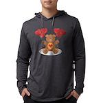 FIN-teddy-bear-hearts Mens Hooded Shirt