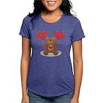 FIN-teddy-bear-hearts Womens Tri-blend T-Shirt