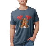 FIN-teddy-bear-hearts Mens Tri-blend T-Shirt