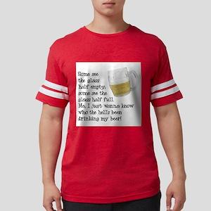 FIN-glass-half-full Mens Football Shirt