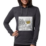 FIN-glass-half-full.png Womens Hooded Shirt
