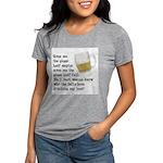 FIN-glass-half-full.png Womens Tri-blend T-Shirt
