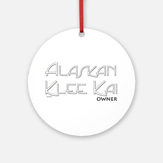Alaskan Klee Kai Owner Ornament (Round)