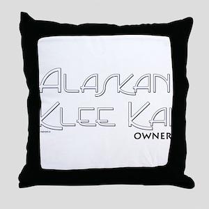 Alaskan Klee Kai Owner Throw Pillow