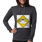 coffee-crossing-sig... Womens Hooded Shirt
