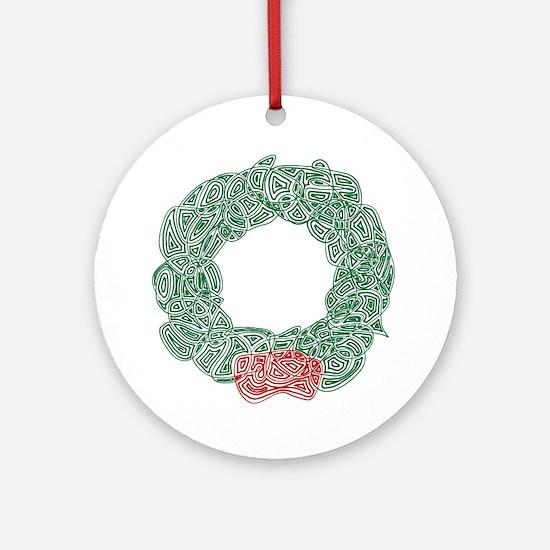 Christmas Wreath Ornament (Round)