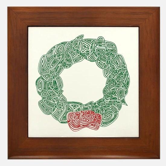 Christmas Wreath Framed Tile