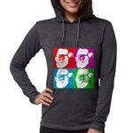 santa-four-colors.png Womens Hooded Shirt