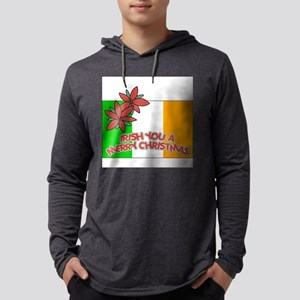 FIN-irish-merry-christmas Mens Hooded Shirt